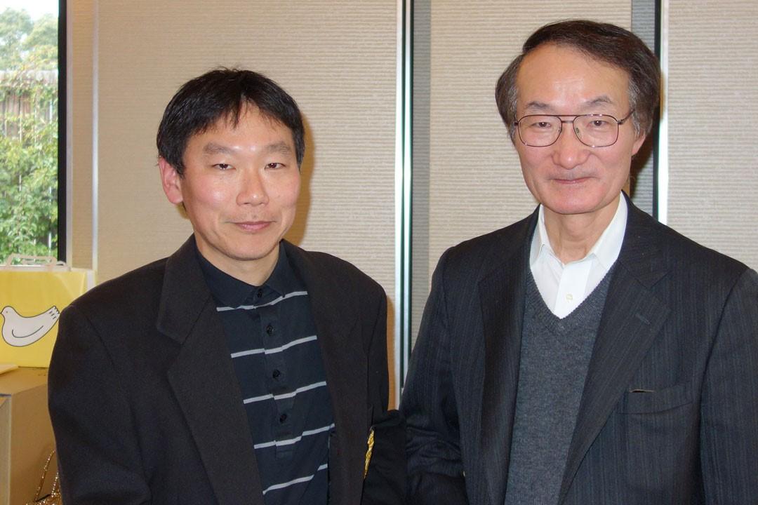 波利井教授と福岡先生